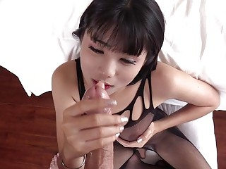 Pretty Ladyboy Blowjobs Together With Spastic Off