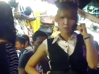 Cute Asian Ladyboys Adulate Nearby Load Of Shit Rag Guys 'not Wanted On Voyage' Public